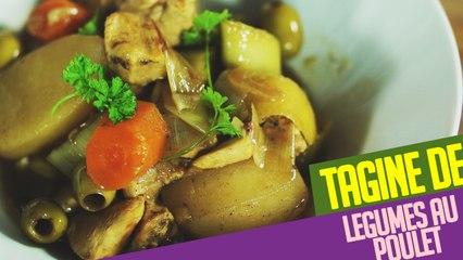 Recette facile du TAGINE de légumes au poulet