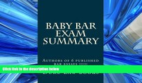 read here  Baby Bar Exam Summary: Authors of 6 published bar essays !!!!!!
