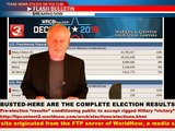 TEXAS NEWS STUDIO ALERT: BUSTED- TV NETWORKS PRE POPULATING A HILLARY WIN