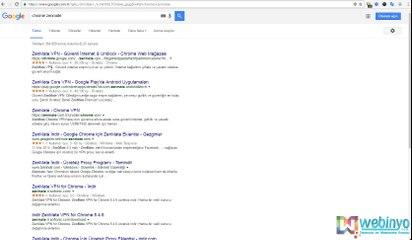 Google Chrome Zenmate VPN Kurulumu