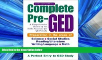 FULL ONLINE  Contemporary s Complete Pre-GED : A Comprehensive Review of the Skills Necessary for