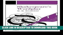 Best Seller Shakespeare s Wordplay (University Paperbacks 242 242) Free Read
