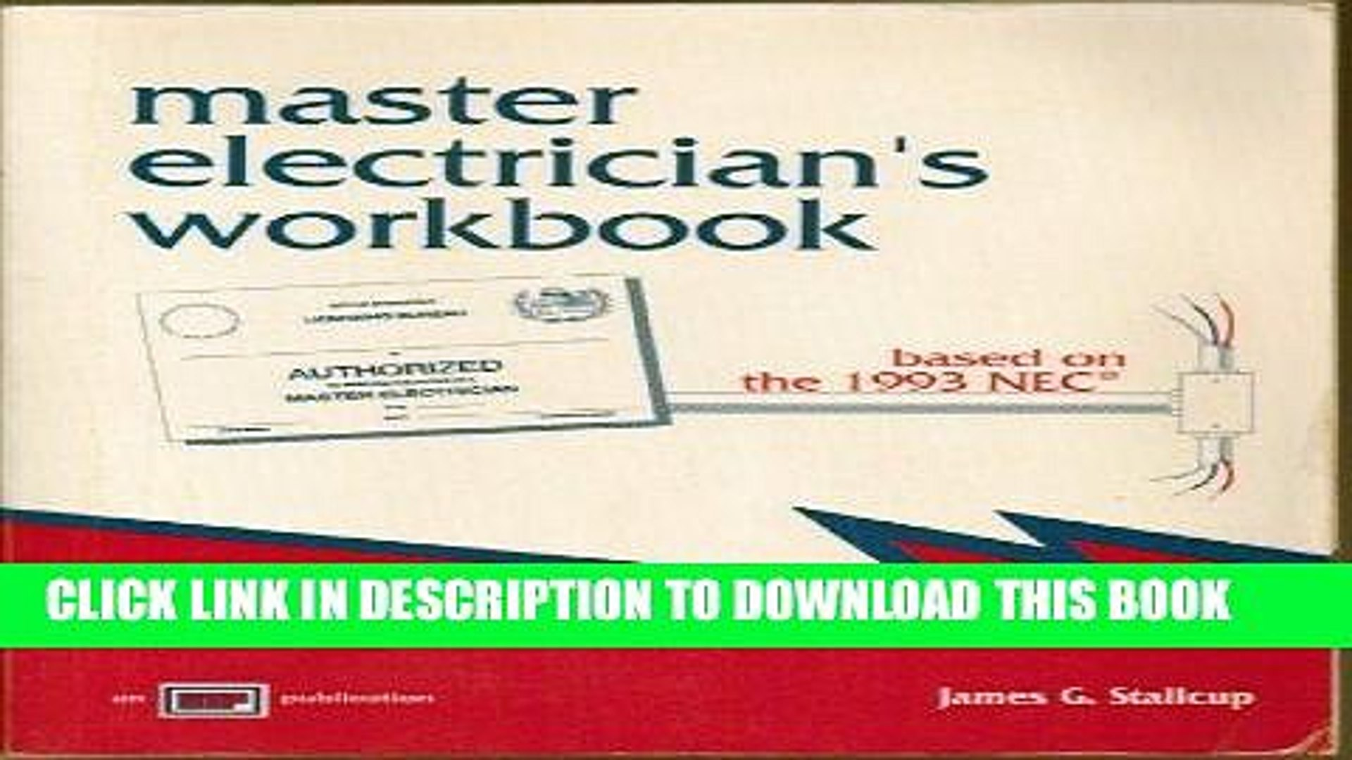 Read Now Master Electrician s Workbook Based on the 1993 NEC: Based on the 1993 NEC Download Book