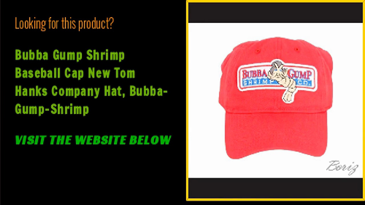 Bubba Gump Shrimp Baseball Cap New Tom Hanks Company Hat, Bubba-Gump-Shrimp