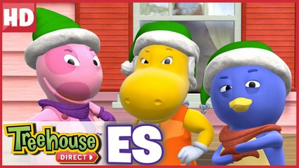 ¡Los Backyardigans son los Elfos de Acción! ¡Aquí para ayudar a Santa!