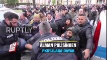 Alman polisinden PKK'lılara dayak