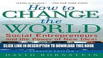 [Ebook] How to Change the World: Social Entrepreneurs and the Power of New Ideas, Updated Edition