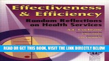 [FREE] EBOOK Effectiveness   Efficiency: Random Reflections on Health Services ONLINE COLLECTION