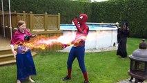 Joker Girl vs Frozen Elsa & Spiderman! w Pink Spidergirl part4