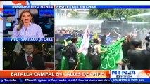 Manifestaciones en Chile contra el actual sistema de pensiones terminaron en fuertes disturbios
