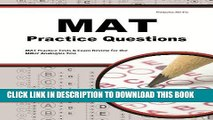 Ebook MAT Practice Questions: MAT Practice Tests   Exam Review for the Miller Analogies Test Free