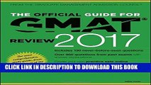 Ebook The Official Guide for GMAT Review 2017 with Online Question Bank and Exclusive Video Free