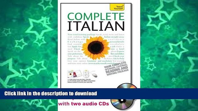 READ BOOK  Complete Italian with Two Audio CDs: A Teach Yourself Guide (Teach Yourself Language)