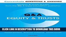[New] Ebook Concentrate Questions and Answers Equity and Trusts: Law Q a Revision and Study Guide