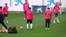FC Barcelona training session: Final workout before Sevilla trip