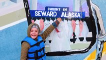 Halibut Fishing in ALASKA! Family Fun Vacation AllToyCollector Wyatt Catches a SHARK!
