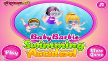 Baby Barbie Swimming Accident - Barbie Games for Girls  #Kidsgames #Barbiegames