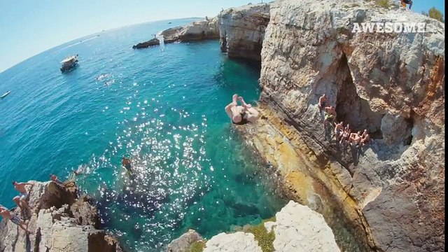 Extreme Cliff Jumping & Giant Rope Swing   PEOPLE ARE AWESOME 2016 - YouTube