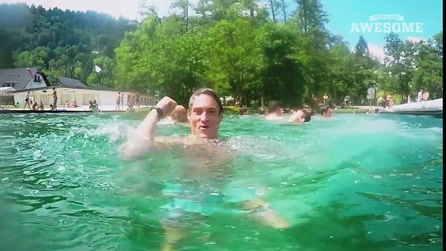 Extreme Russian Swing Flips into a Lake   PEOPLE ARE AWESOME