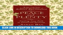 Best Seller Peace and Plenty: Finding Your Path to Financial Serenity Free Read