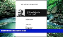 READ book  PALESTRINA  MISSA BREVIS (WASHINGTON)  SATB  (L) (Latin Church Music of the Polyphonic