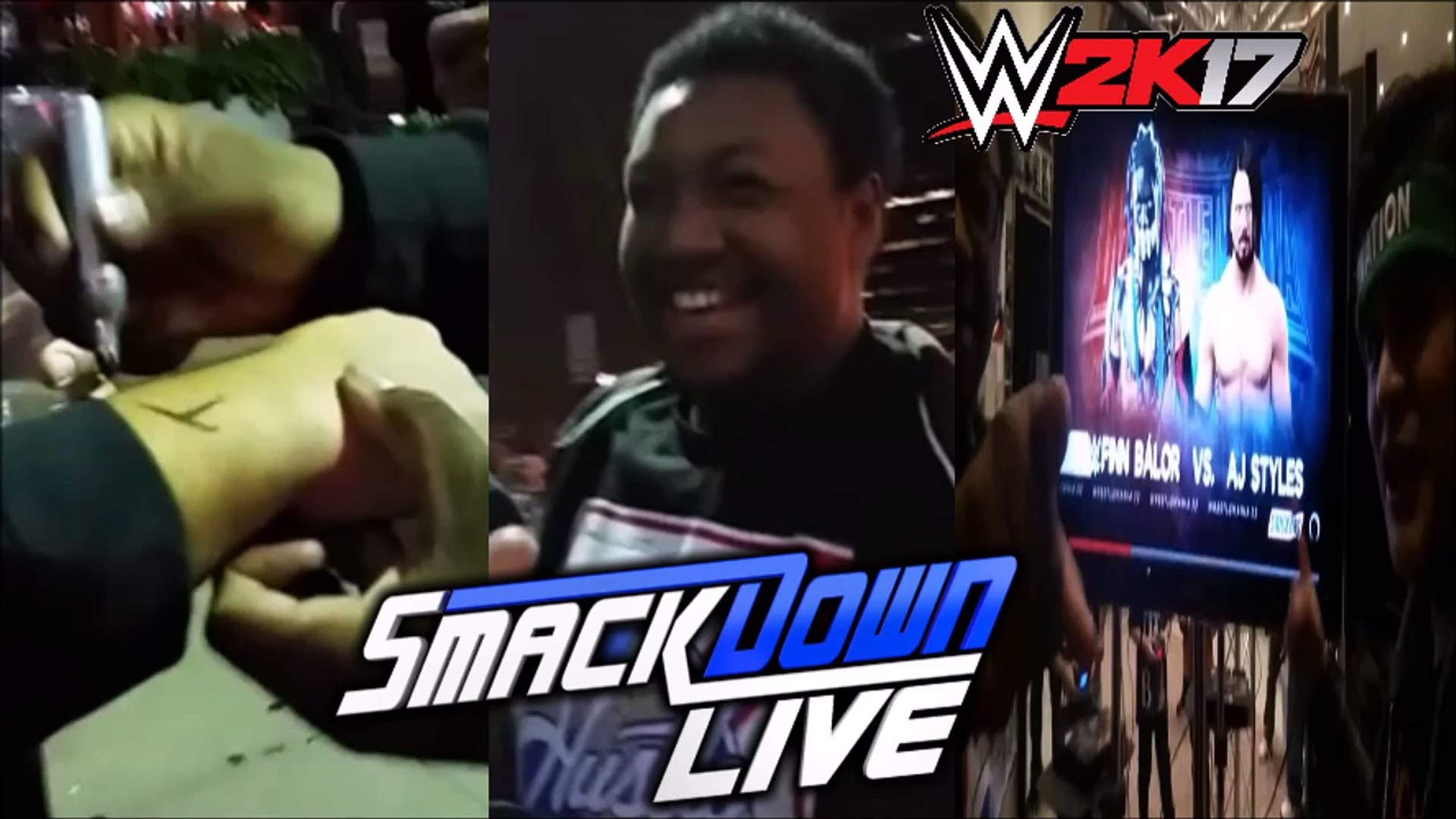 IDIOT WRESTLING FAN GIVES OUT AUTOGRAPHS | WWE 2K17 | WWE SMACKDOWN LIVE REACTIONS VLOG PART 1