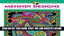 Ebook Dover Creative Haven Mehndi Designs Coloring Book