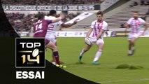 TOP 14 ‐ Essai Hugo BONNEVAL (SFP) – Bordeaux-Bègles-Paris – J10 – Saison 2016/2017