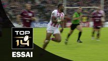 TOP 14 ‐ Essai Waisea VUIDRAVUWALU (SFP) – Bordeaux-Bègles-Paris – J10 – Saison 2016/2017