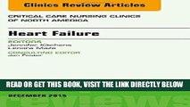 [FREE] EBOOK Heart Failure, An Issue of Critical Nursing Clinics, 1e (The Clinics: Nursing) ONLINE