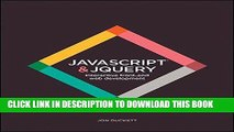 Best Seller JavaScript and JQuery: Interactive Front-End Web Development Free Download