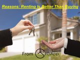 Reasons-Renting Is Better Than Buying