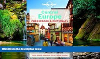 Must Have  Lonely Planet Central Europe Phrasebook   Dictionary (Lonely Planet Phrasebook and