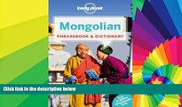 Must Have  Lonely Planet Mongolian Phrasebook   Dictionary  Most Wanted