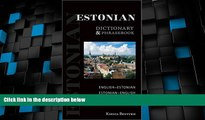 Deals in Books  Estonian-English/English-Estonian Dictionary and Phrasebook (Hippocrene