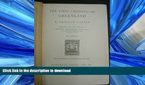 FAVORITE BOOK  The first crossing of Greenland FULL ONLINE