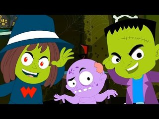 ghost they love to walk tonight | halloween song | kids rhymes | childrens song