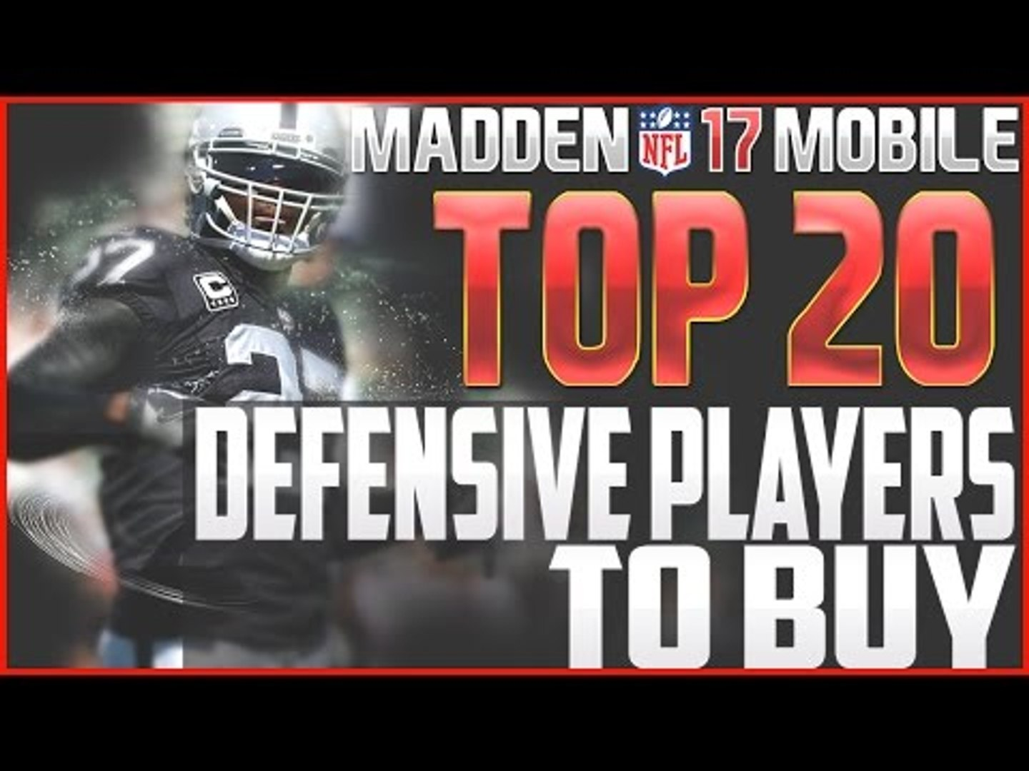 Madden NFL 17 Mobile Top 20 Defensive Players to Buy!! Madden Mobile Tips!