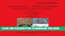 [PDF] Myos Hormos - Quseir al-Qadim, Roman and Islamic Ports on the Red Sea, Volume 2: Finds from