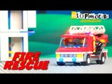 Stop Motion Animation - Lego Fire Station | Lego Stop Motion | Lego Fire Rescue Mission | Kids Game