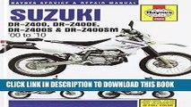 Ebook Suzuki DR-Z400/DR-Z400E/DR-Z400S   DR-Z400SM 2000-2010 Repair Manual (Haynes Automotive