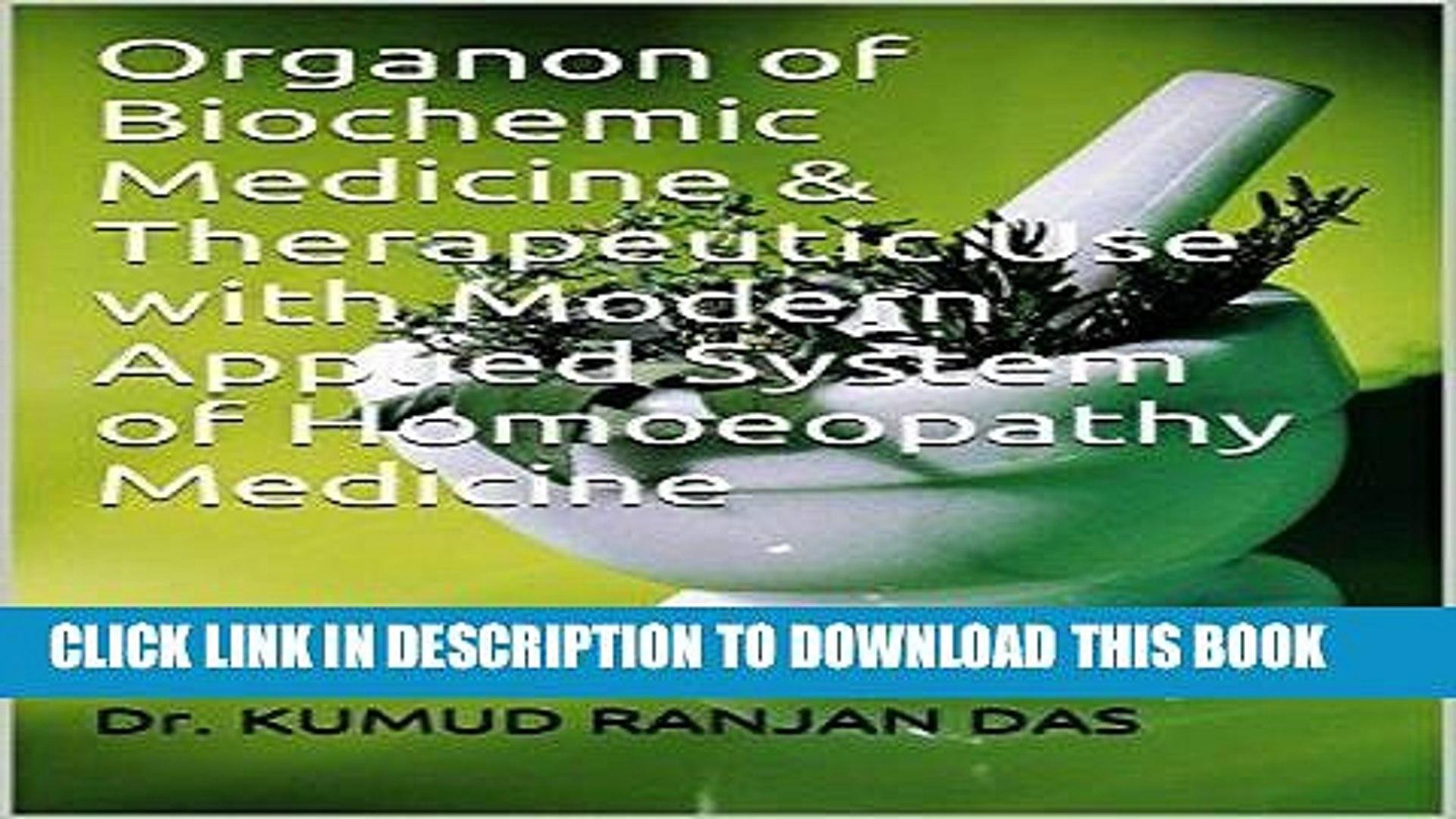 PDF] Organon of Biochemic Medicine Therapeutic Use with