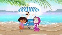 Masha and the Bear & Dora Eating Ice Cream toothache Crying Masha & Spiderman