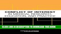 [PDF] Conflict of Interest in Medical Research, Education, and Practice Popular Collection