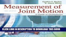 [PDF] Measurement of Joint Motion : A Guide to Goniometry, 4th Edition Full Collection