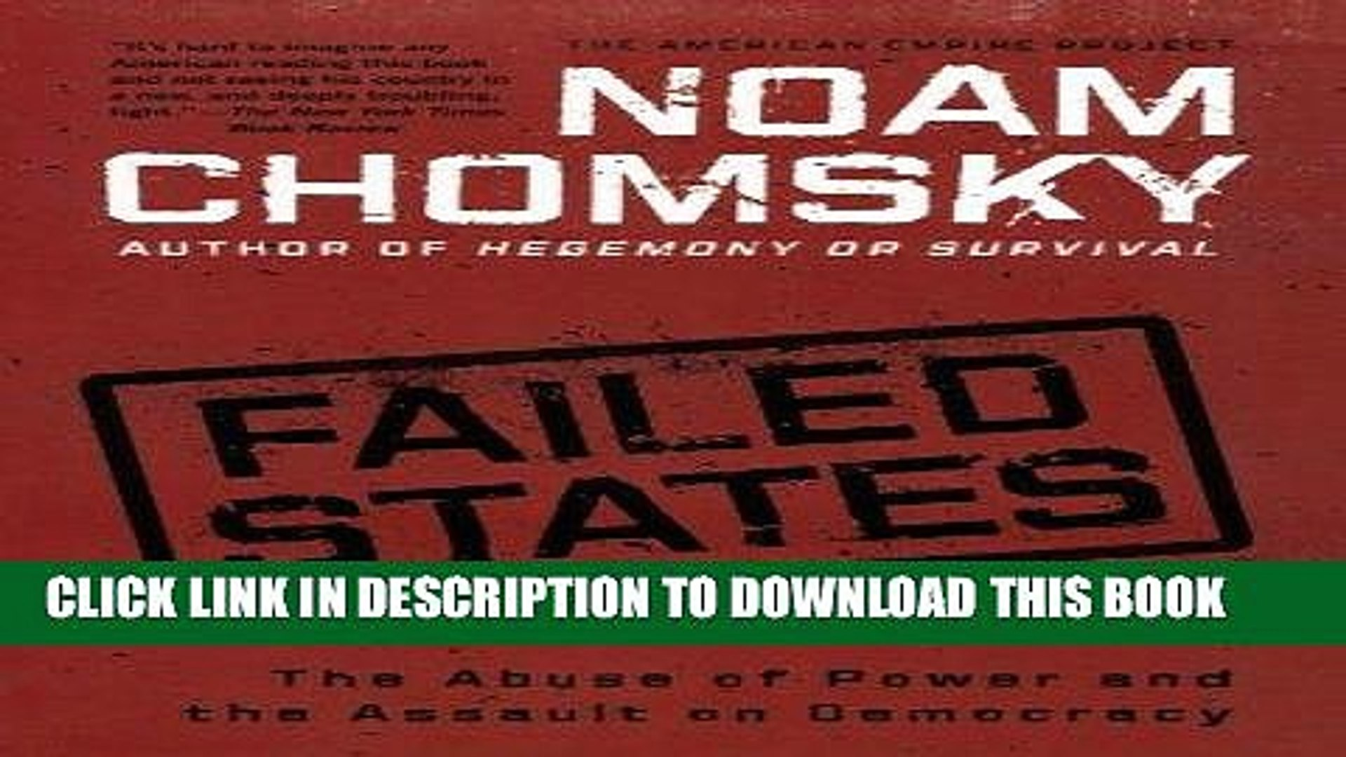 [READ] EBOOK Failed States: The Abuse of Power and the Assault on Democracy (American Empire