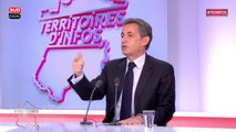 """N. Sarkozy : """"La politique c'est une grande école d'humilité, si vous deviez travailler qu'avez des gens qui sont d'accord avec vous..."""""""