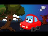 Little Red Car Rhymes - Little Red Car In The Scary Wood | Scary Nursery Rhymes | Children's Songs