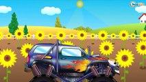 Czerwony Traktor dla dzieci - Samochodziki dla dzieci | Maszyny Budowlane Bajki po polsku
