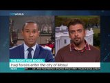Interview with Raed Jarrar on Iraqi forces entering the city of Mosul